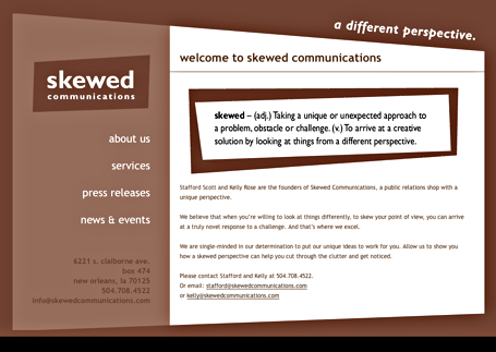 Skewed Communications Site